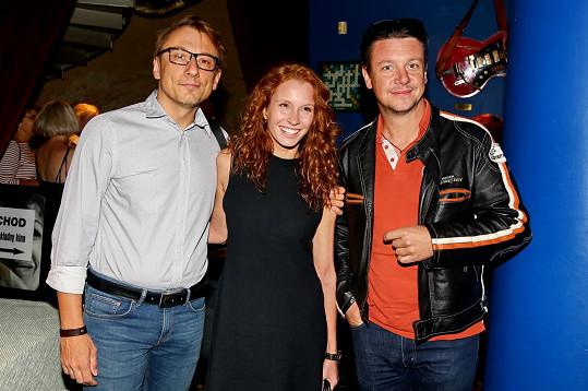 Petr Stach si natáčení seriálu společně s ostatními užíval.