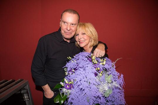 Štefan Margita a Hana Zagorová po skončení koncertu