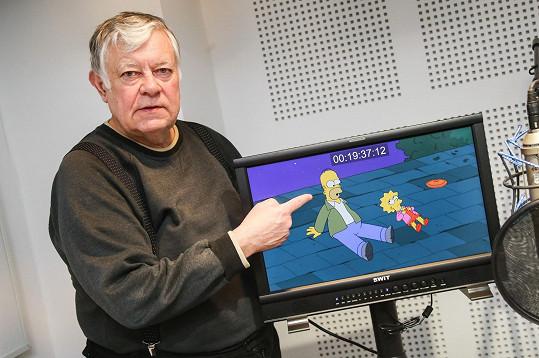 Hlasem Vlastimila Zavřela Homer Simpson promlouvá už 18 let.
