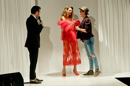 Baikova během finálové show jako čestný host