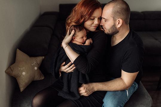 Veronika Stýblová na první rodinné fotografii