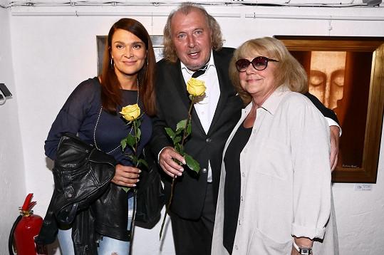 S obdivovatelkami Mahulenou Bočanovou a Ivou Hüttnerovou