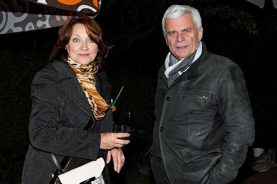 Zlata Adamovská a Petr Štěpánek, kteří v Ordinaci hrají exmanžele.