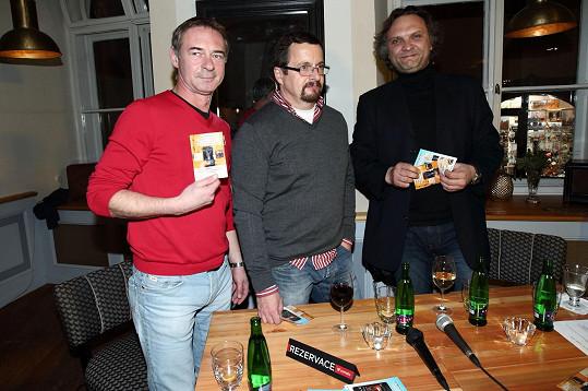 Jiří Dvořák křtil audioknihu Michala Viewegha, kterou namluvil.