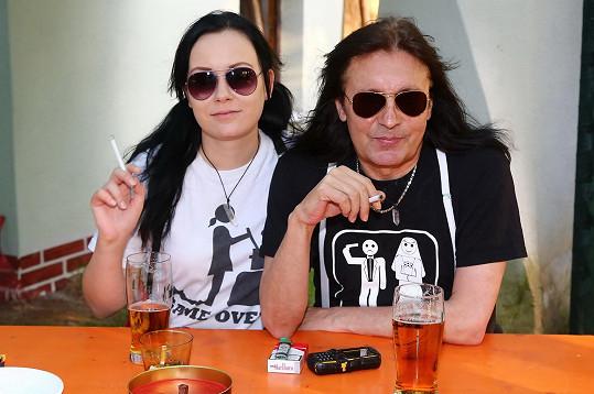 Aleš Brichta s manželkou Joannou, která mu je neustále po boku.
