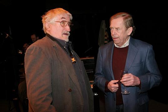 Pavel Landovský se svým velkým kamarádem Václavem Havlem