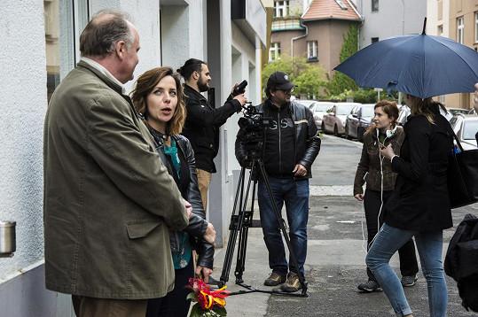 Z natáčení filmu Casting na lásku, který vzniká pod režisérskou taktovkou Evy Toulové.
