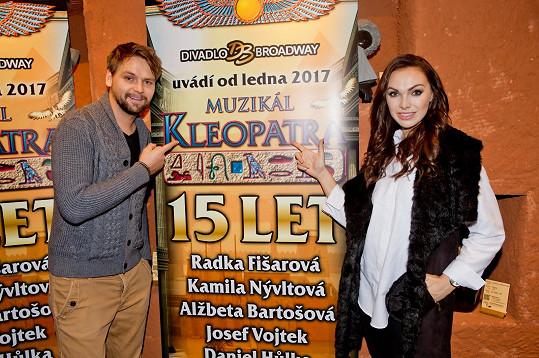 Josef Vágner a Kamila Nývltová se potkají v muzikálu Kleopatra.