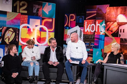 Šanda na natáčení talk show 7 pádů Honzy Dědka