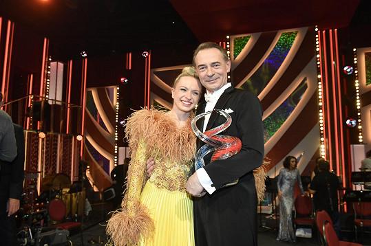 Dvořák s taneční partnerkou Lenkou Norou Návorkovou.