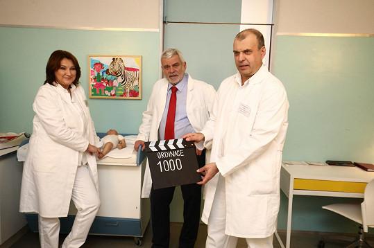 Epizodu č. 1000 natáčela s manželem Petrem Štěpánkem a Petrem Rychlým.