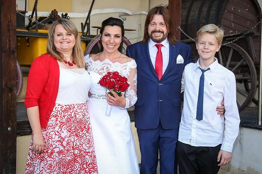 Bohouš Josef s dcerou Terezou a synem Tomášem