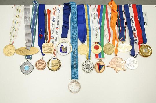 Ve sbírce však chybí olympijská medaile z roku 2004.