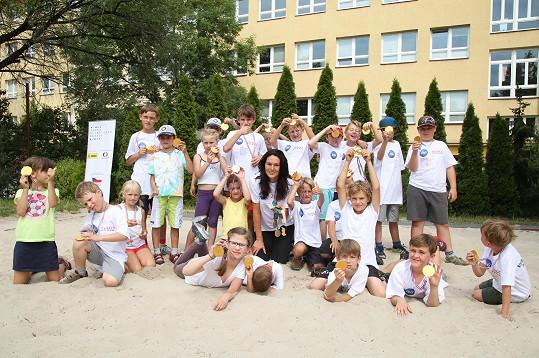 Kašpárková je ambasadorkou projektu, který pomáhá dětem ze znevýhodněných rodin.
