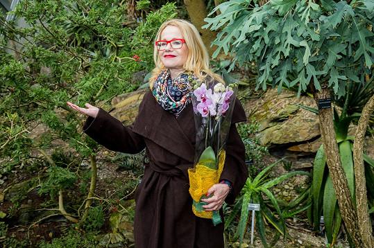 Jitka Asterová přiznala, že pěstování květin nepatří mezi její silné stránky.