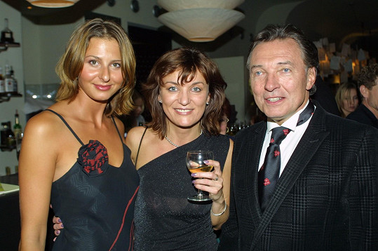 Ivana s Beatou Rajskou a Karlem Gottem