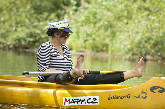 Jitka Čvančarová letos v létě poprvé sjížděla řeku.