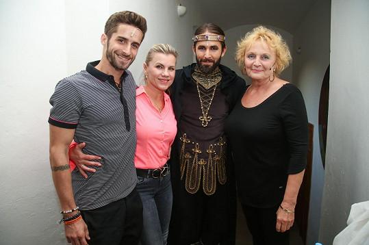 Regina Rázlová a Daniel Bambas odehráli představení Noci na Karlštejně.