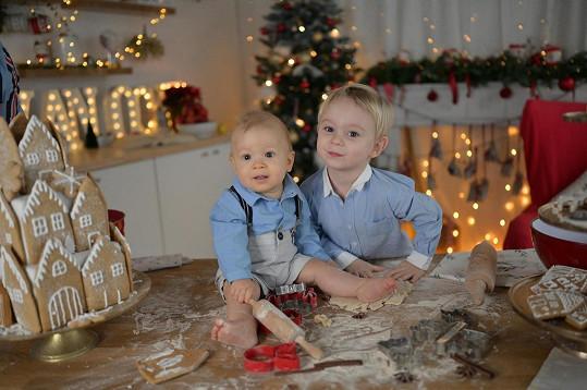 Dorian Marek (vlevo) a jeho starší brácha Bertram Josef