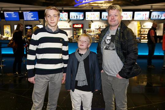 Aleš Háma a jeho dva synové Jáchym a Mikuláš