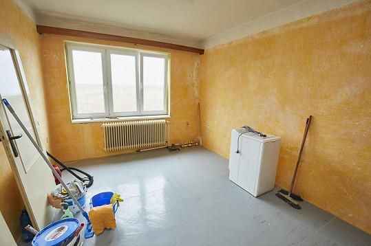 Další místnost skoro zela prázdnotou.