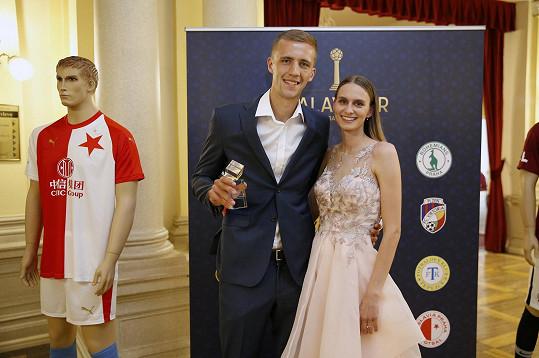 Záložník West Hamu Tomáš Souček a jeho žena Natálie