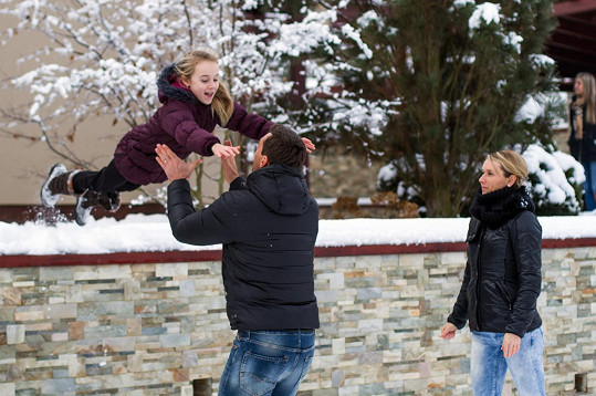 Rodina vyrazila na Moravu.