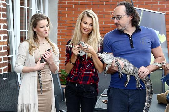 Další krokodýly křtili například Marian Vojtko a Michaela Gemrotová.
