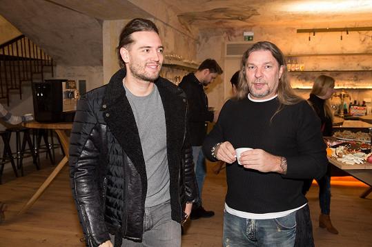 Jan Kopečný na tiskovce s kolegou Petrem Kolářem