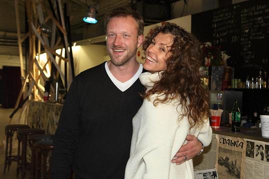 Eva Jeníčková s partnerem a režisérem Klaunů Viktorem Taušem