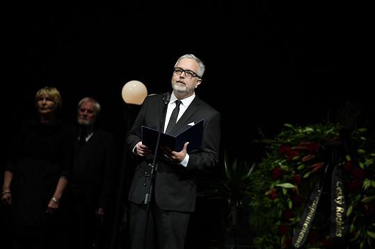 Krásnou vzpomínkovou řeč pronesl i synovec Jaroslava Kepky, herec Ondřej Kepka.
