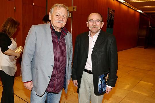 Uhlíř se svým věrným kolegou Karlem Šípem