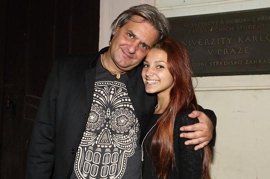 A zde Agáta s tátou Slávkem Bourou