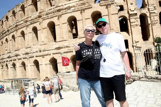 Jeli i na autobusový výlet do colosea, kde se Filipovi moc líbilo.
