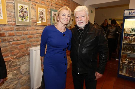 Milan Drobný a jeho snoubenka Dana Polcaro