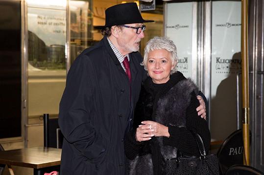 Ladislav Frej s partnerkou Gábinou, které loni našli nádor na slinivce.
