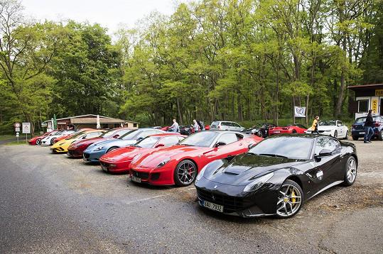 Leošovo naleštěné ferrari mezi dalšími sedmdesáti devíti luxusními vozy málem zapadlo.