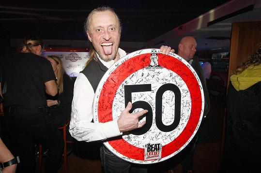 Brichta na koncertě gratuloval Kamilu Střihavkovi, který slavil padesátiny.