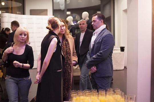 Martin Dejdar dorazil na prezentaci kolekce pro jaro/léto známého českého módního řetězce.