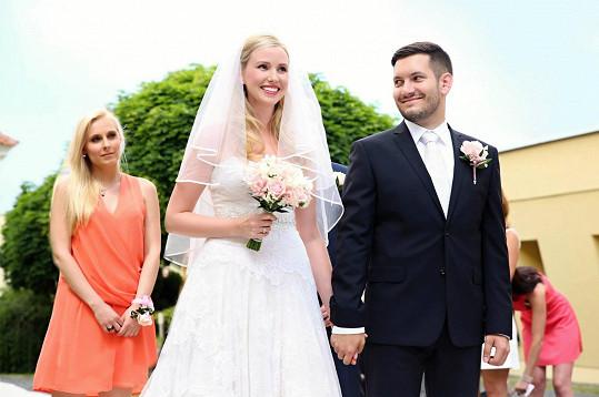 Fotka ze svatby Janatových