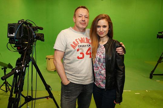Julie s Michalem Dvořákem natáčela projekce k dalšímu Vivaldiannu.
