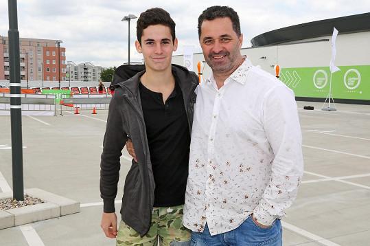 Martin Dejdar se synem Matějem