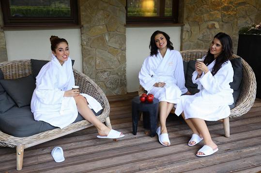 S kolegyněmi z České Miss si užívaly ve wellness v Augustiniánském domě.