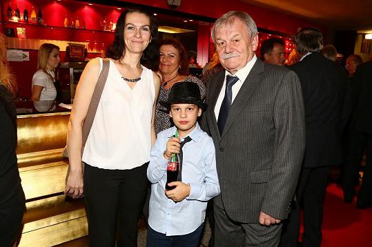 Karel Šíp s manželkou Ivou a synem Honzou