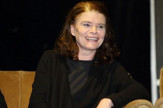 Zuzana Bydžovská na tiskovce rozdávala úsměvy.