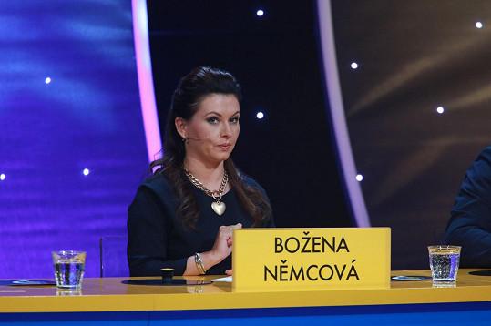 Oblíbená herečka v zábavném pořadu nesmí chybět...