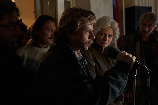 Scéna z natáčení filmu Havel.