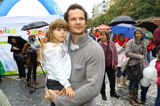 Patrik Eliáš s dcerou Sophií Gabriellou