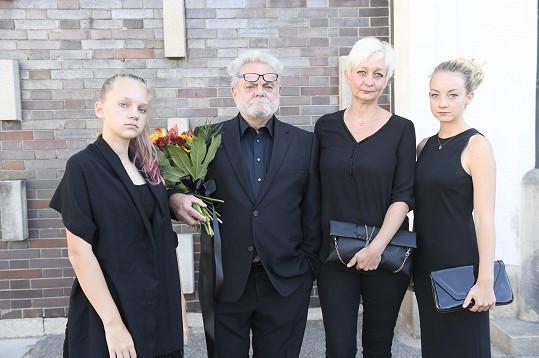 Václav Upír Krejčí s rodinou