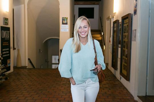 Katku přišla podpořit i kamarádka Renata Langmannová.